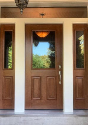 Beautiful ProVia Exterior Door with Transom