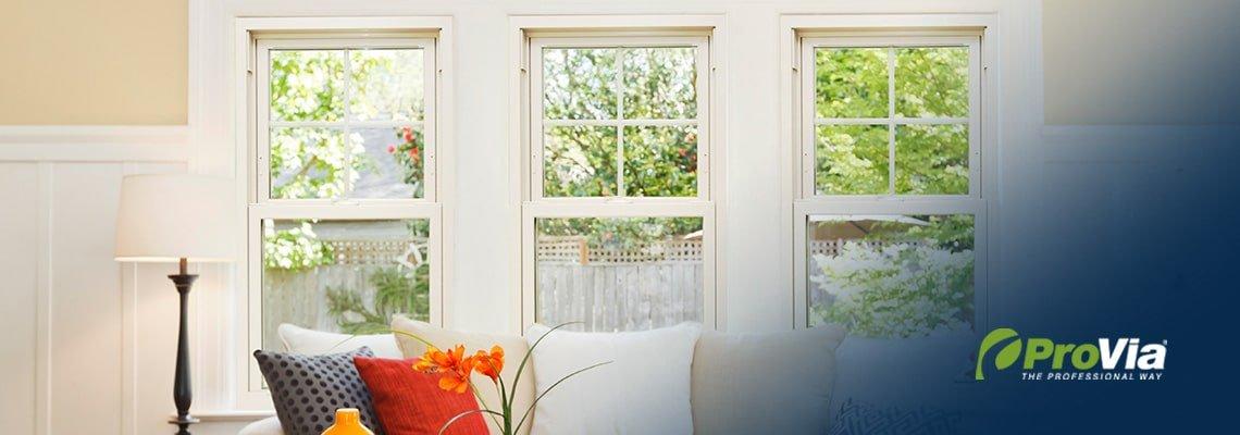 Aspect Double Hung Windows - Living Room