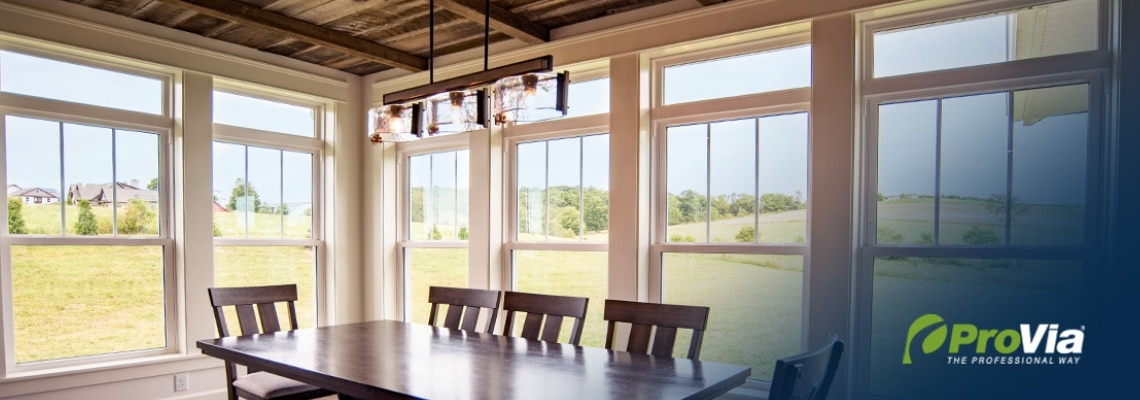 Endure Double Hung Windows - Dining Room