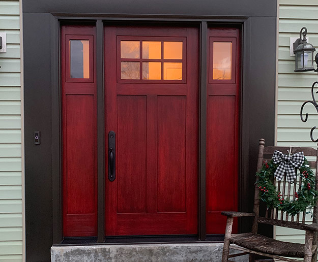 Exterior ProVia Door in Red