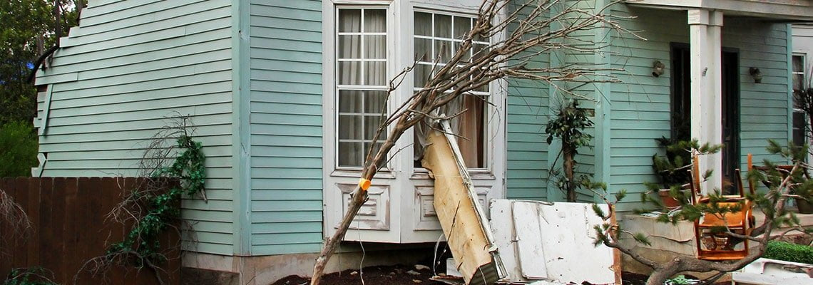 storm damaged windows