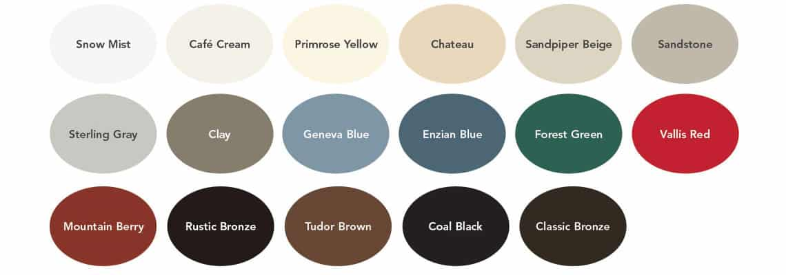 ProVia window color choices